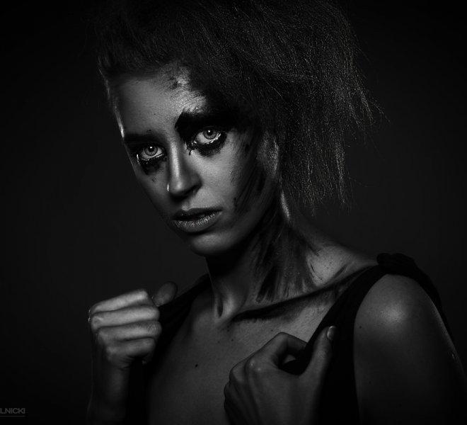 czarno - biały portret